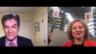 Dr. Oz in the zoom with Svetlana Pyatigorskaya at CNN center Atlanta, GA.